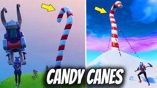 Fortnite - Visit Giant Candy Cane - ALL LOCATIONS : 14 Days of Fortnite Challenges (FREE REWARDS)