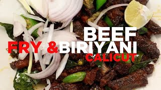 Beef Biriyani and Fry near Calicut