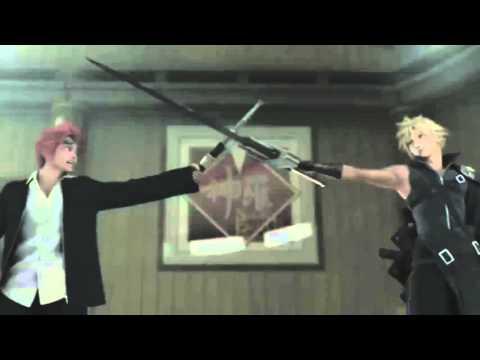 """""""Final Fantasy VII: Advent Children"""" Cloud vs Reno Funny scene"""