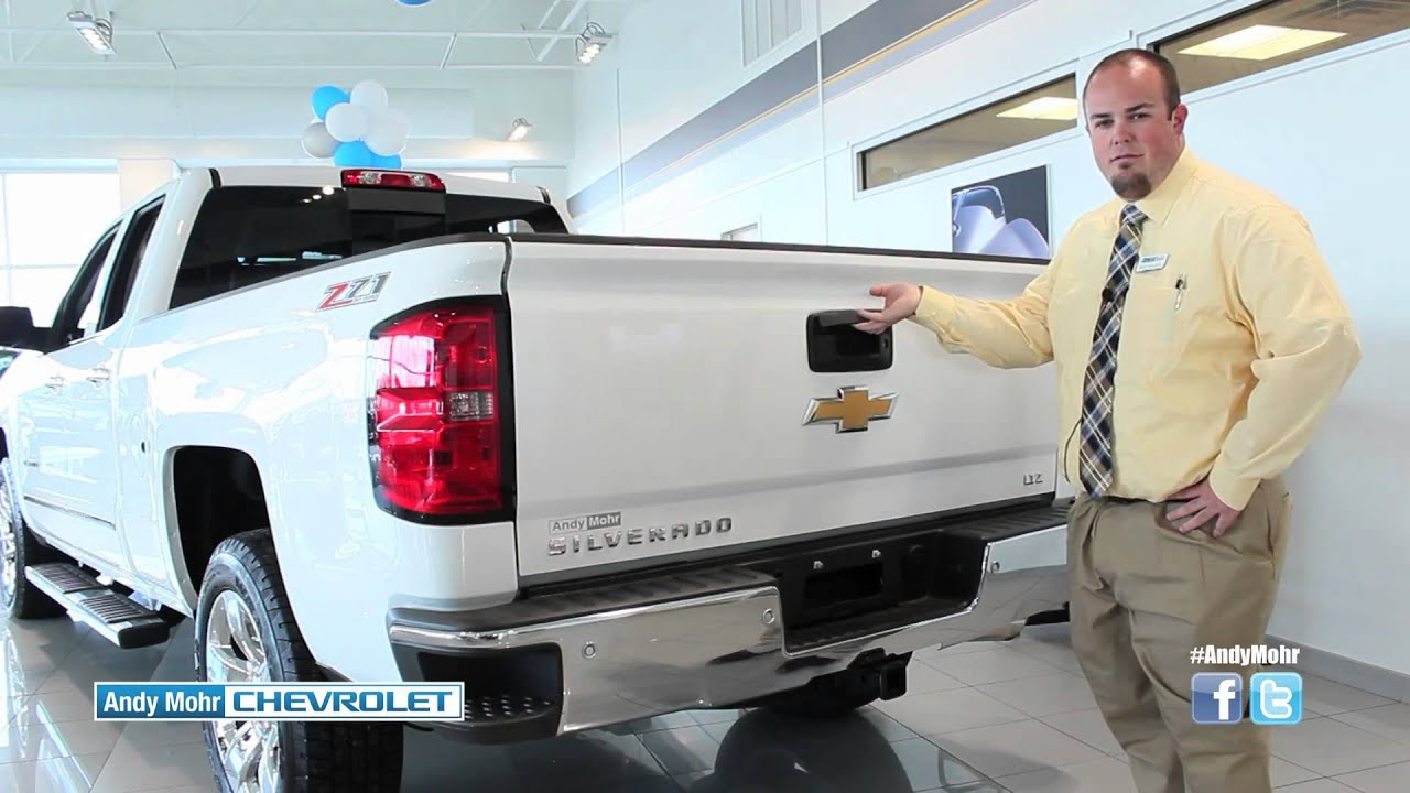 2015 chevy silverado easy lift lower tailgate corner step bumpers andy mohr chevrolet [ 1280 x 720 Pixel ]