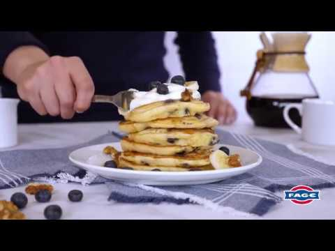Blueberry-Banana Pancakes with Greek Yogurt Recipe