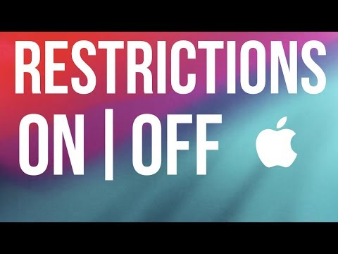 How to enable/disable restrictions on iOS 12 - iPhone, iPad, iPod | 2019