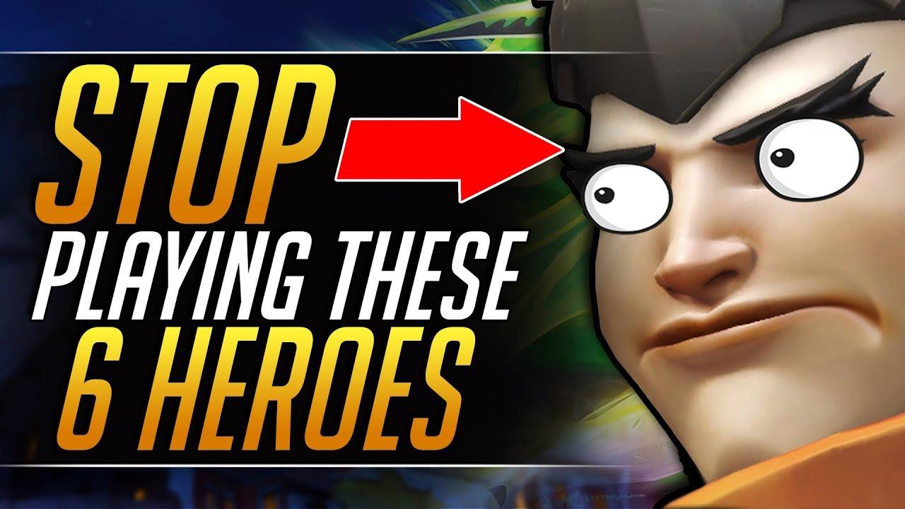 Top 6 WEAKEST HEROES in Overwatch you MUST Avoid - Meta Tips   Overwatch Pro Guide (Season 18)