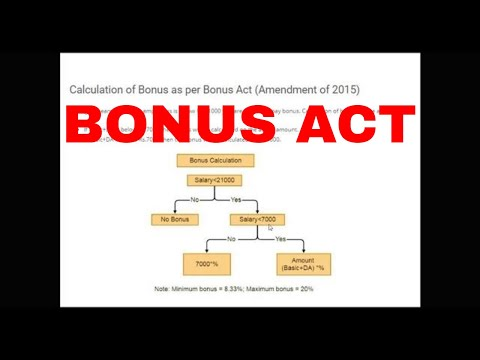 BONUS - THE PAYMENT OF BONUS ACT, 1965 - YouTube