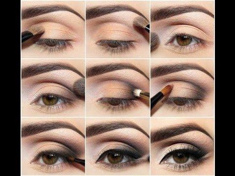 Макияж для каре зеленых глаз пошаговое фото на каждый день 6