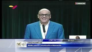 Jorge Rodríguez: ¿Juan Guaidó dónde están los 184 millones de dólares que te dieron? 2/2