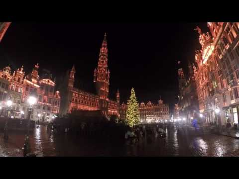 Grande place, Brussels-Plaisirs d'hiver 2017-Lost frequencies light and music show-GoPro Hero5