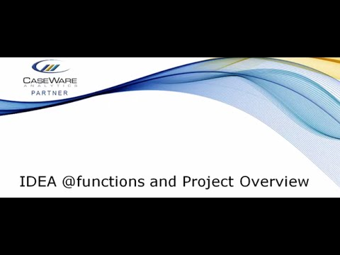 IDEA @functions & Project Overview