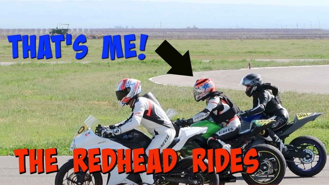What here Crazy redhead racing