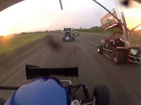 IN Car Cam of  Will Bass at Gulf Coast Speedway A Class HEAT  1 7 13 13