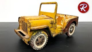 1960s Tonka Jeep Restoration - Military Jeep GR2-2431