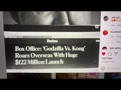 Adam Wingard Godzilla vs Kong Director Goes Instagram Ape Over News Of $121 Million Opening Overseas