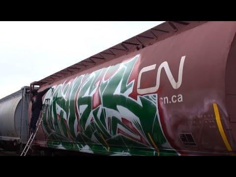 Big Miles SDK - Wholecar - Train Graffiti - Stompdown Killaz - Canada