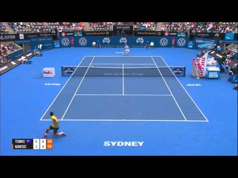 Bernard TOMIC (AUS) vs Blaz KAVCIC (SLO) HIGHLIGHTS Apia International Sydney 2014