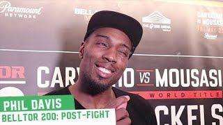 """Phil Davis -- """"If they put somebody in this cage, I'm gonna beat them up"""""""
