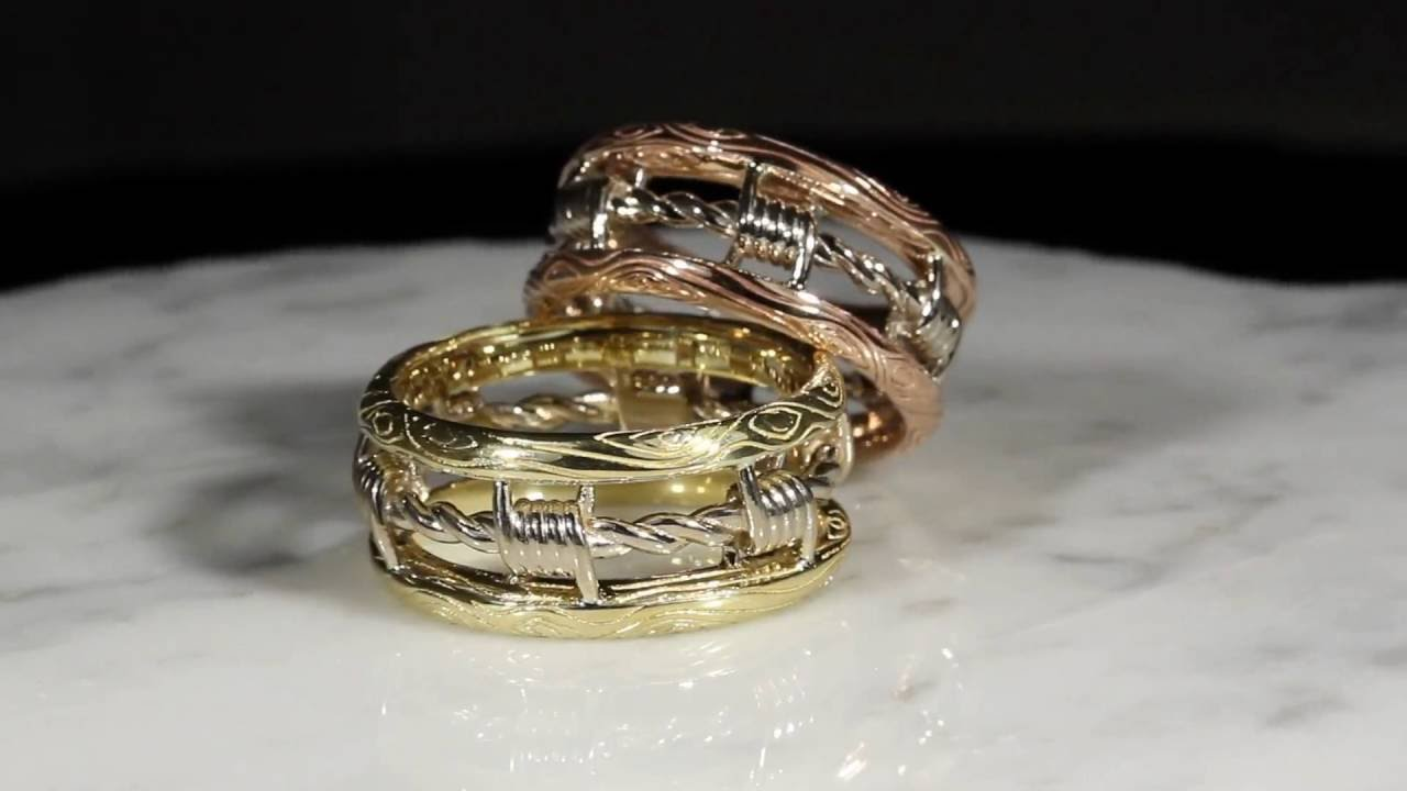 Barbed Wire Wedding Bands - YouTube