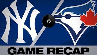 Hicks, Happ lead Yanks to win over Blue Jays - 6/6/19