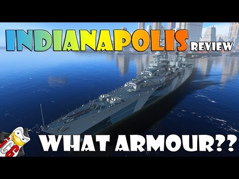 World of Warships - Indianapolis Review - What Armour??