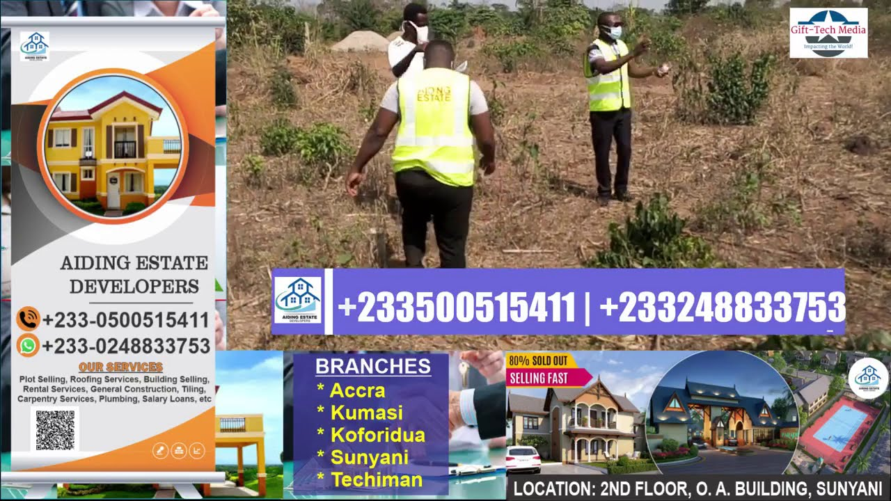 16 plots of land available for sale at Watchman, Just after Bonoman SHS in Sunyani.