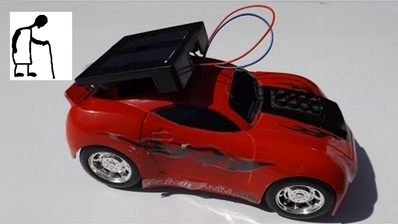 solar conversion for toy car using fluttering solar dragonfly components
