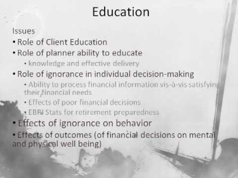 Fiduciary, Education, Savings and Investing