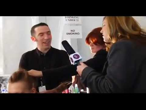 Rudi Lewis Backstage at ADAM LIPPES Show interviewed by Style Coalition