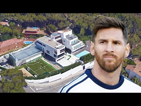 Lionel Messi's House In Barcelona (Inside & Outside Design)