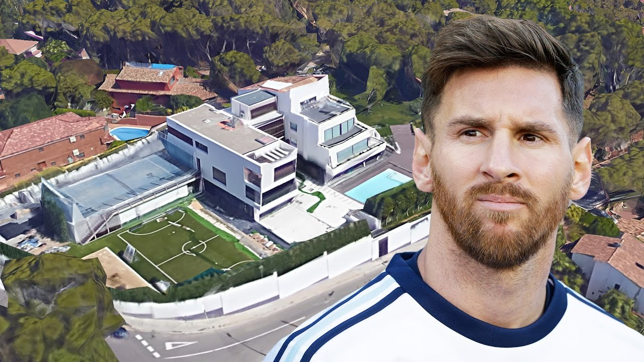lionel messi 39 s house in barcelona inside outside design 2017 new youtube. Black Bedroom Furniture Sets. Home Design Ideas