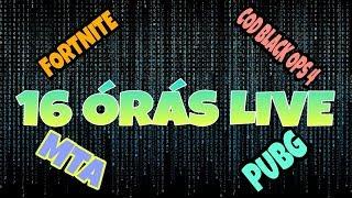 16 ÓRÁS LIVE!!!! Jelenleg amivel játszunk: FORTNITE  [11.000 FELIRATKOZÓNÁL 1000 V-BUCKS SORSOLÁS!]