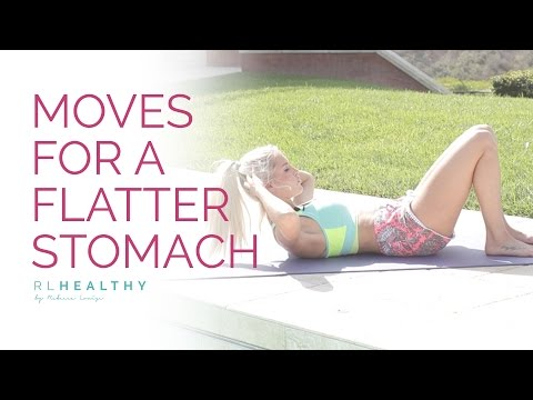 9 Moves for a Flatter Stomach   Rebecca Louise