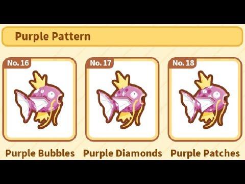 All Purple Pattern Magikarp The FINALE[PokemonMagikarp Jump]Episode Amazing Magikarp Jump Patterns