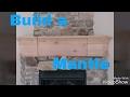 Make a fireplace mantle. Knotty alder finish carpentry remodel.