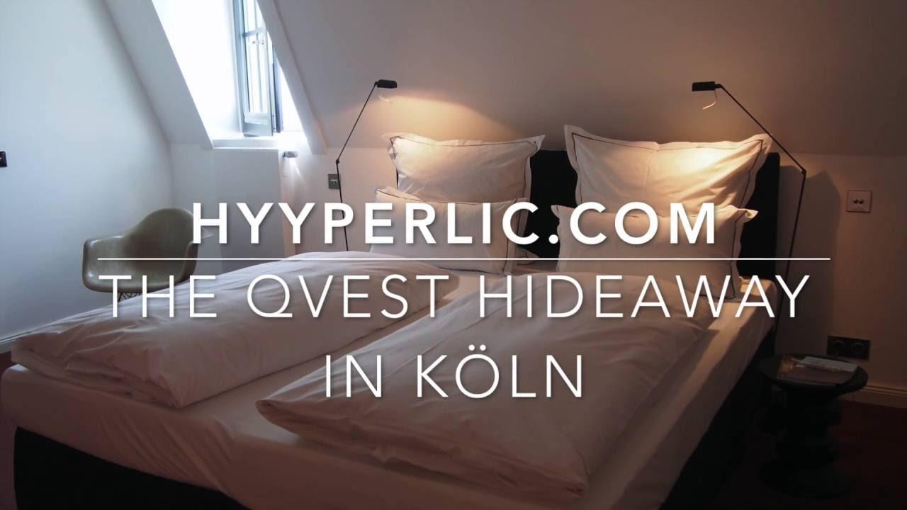 the qvest hideaway design hotel in k ln cologne youtube. Black Bedroom Furniture Sets. Home Design Ideas