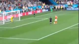 argentina vs holanda gol fantasma romero tapa el primer penal ha vlaar y luego la pelota entra