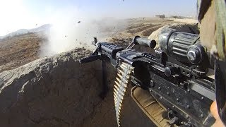 Bullets Whiz Close Over M240B Gunner