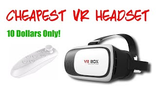 cheapest vr headset unboxing 10 virtual reality headset and remote