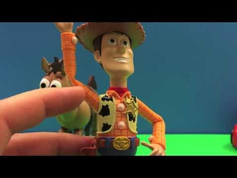 Disney Pixar Toy Story Woddy & Bullseye RoundUp Pack Kickin' Action