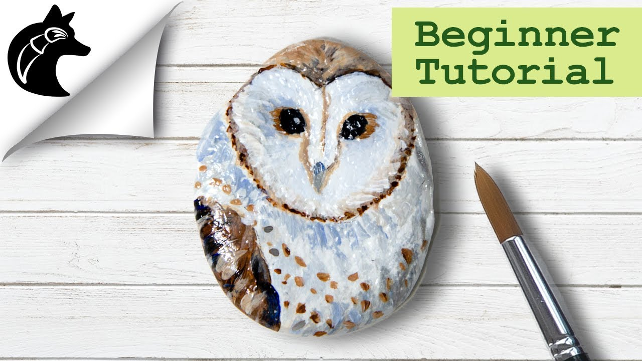 Rock Painting Tutorial for Beginners Owl - YouTube