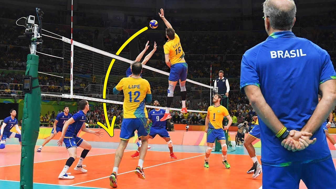 The Most Powerful Volleyball Spikes by Lucas Saatkamp | Crazy Actions (HD)