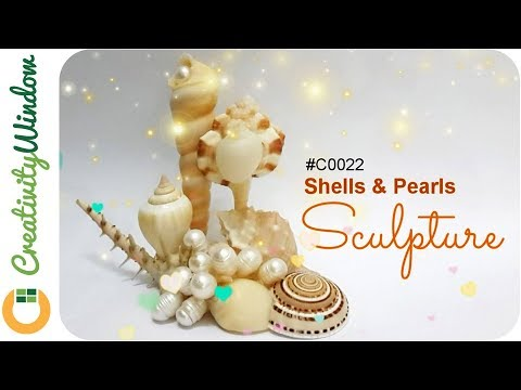 Shell Sculpture with Pearl from Palawan, Philippines
