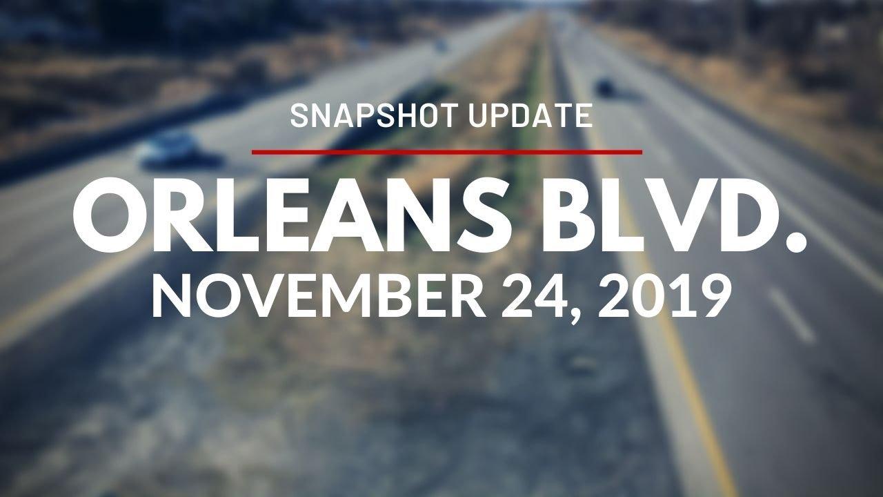 Snapshot Update for Orléans Blvd. Station - November 24, 2019