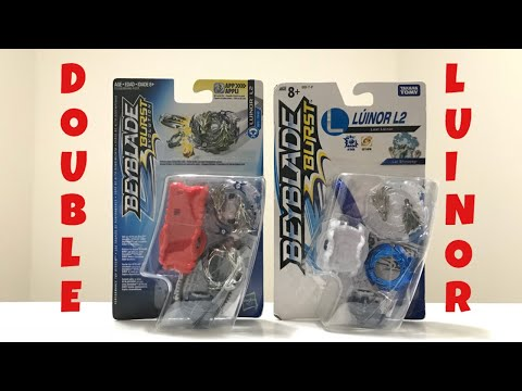 DOUBLE LUINOR L2?! QR CODE! Unboxing, Review and Battle! [Beyblade Burst Evolution]