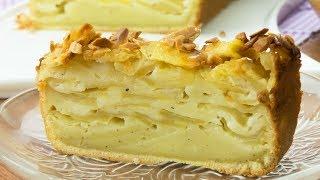 Улетный рецепт яблочного пирога с карамельным соусом! Съедается в миг! | Appetitno.TV