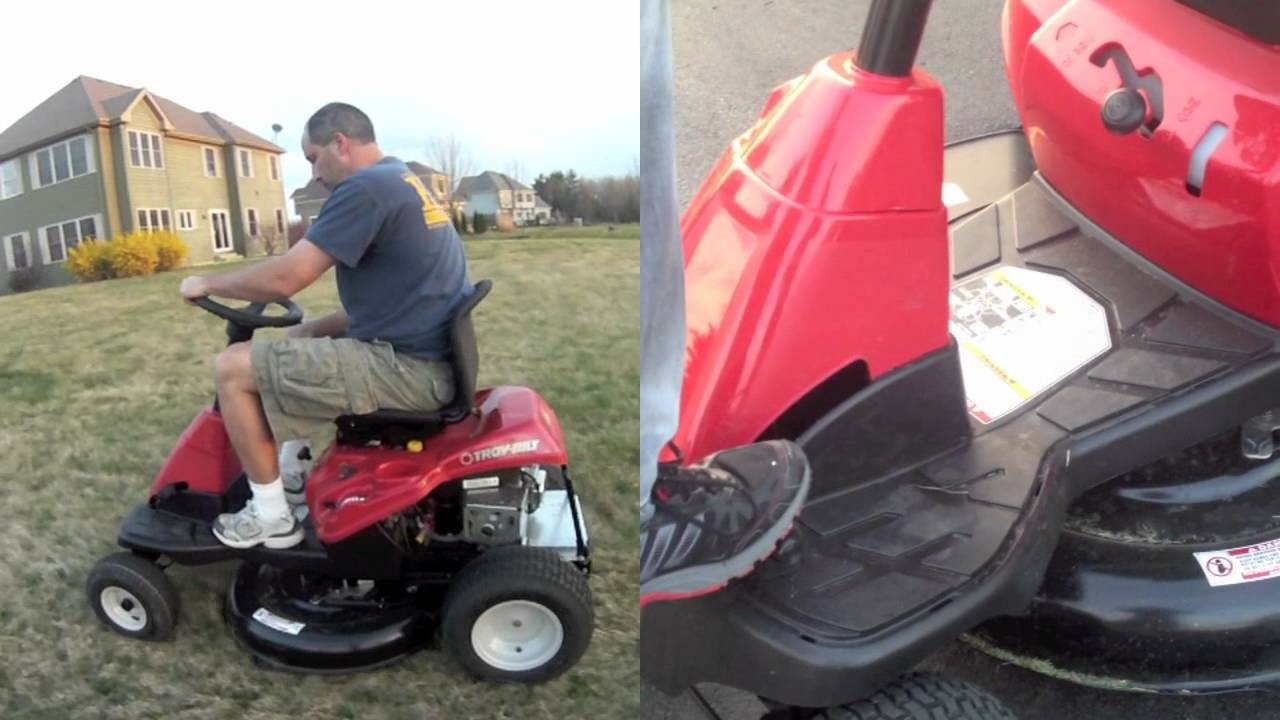 Troy Bilt Neighborhood Rider 30 Riding Lawn Mower Youtube
