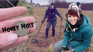 Our New Metal Detecting Honey Hole | Found 250 Year-Old Coins and Relics