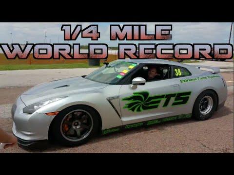 INSANE ETS GTR - 7.49@189mph GTR 1/4 Mile World Record- Tx2k15