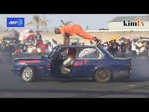 Gangster-style car stunts put South Africa in a spin