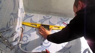 طريقة تركيب الأسقف البلاستيكية بحرفية-la pose de faux plafond  en pvc