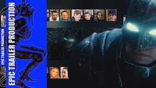 (RETRO) Batman v Superman  Dawn of Justice   Comic Con Trailer HD reaction mashup