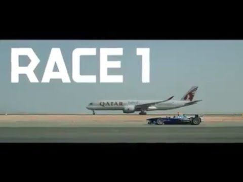 ABB FIA Formula E race car vs Qatar Airways Airblue A350 boeing 787 Dreamline. Who will win??
